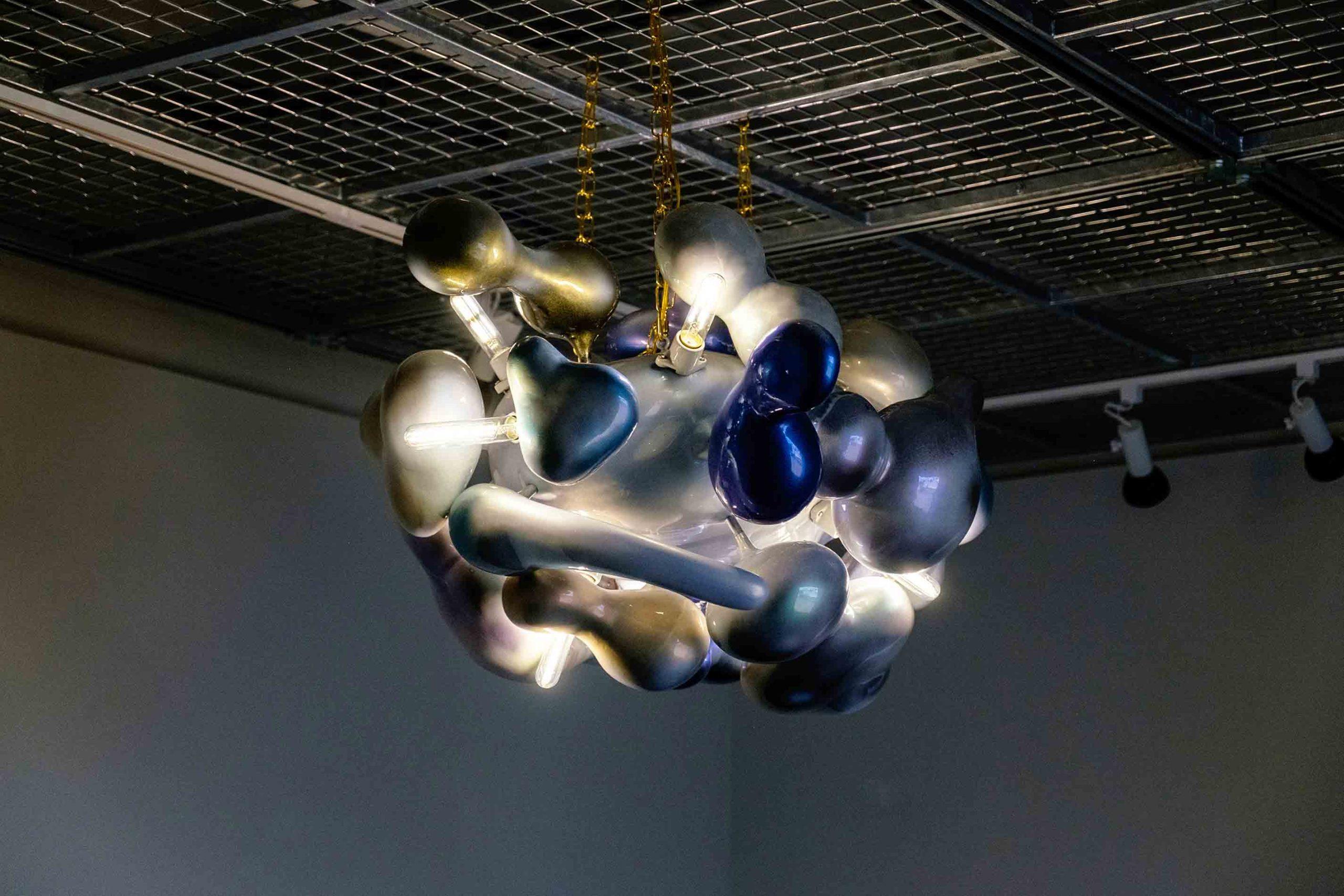 Suspended organic sculpture