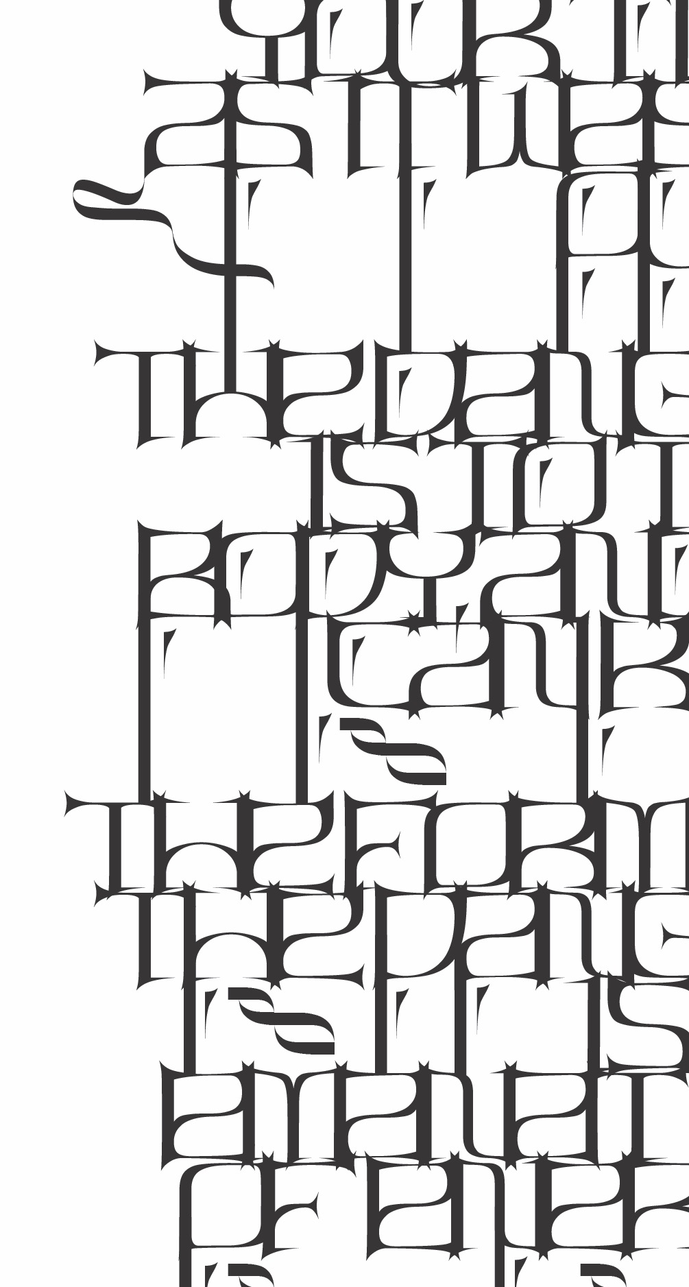 black and white typography design